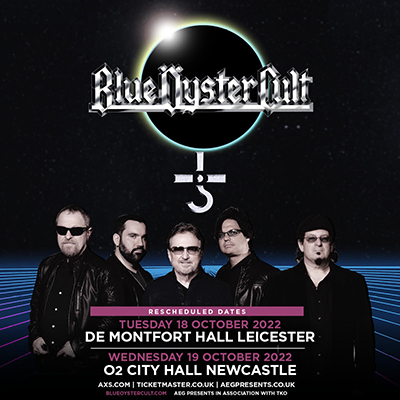 Blue Oyster Cult UK Dates rescheduled to 2022